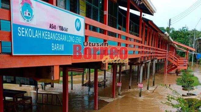Sekolah Antara Yang Terjejas Akibat Banjir Di Long Atip Dan Long Lenei. Kredit gambar UtusanBorneo