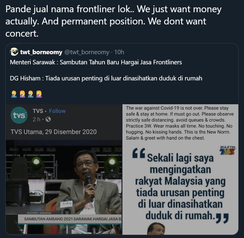 Artis Tak Perlu Kuarantin, Netizen Kecewa SOP Kuarantin Antara Dua Darjat Di Sarawak