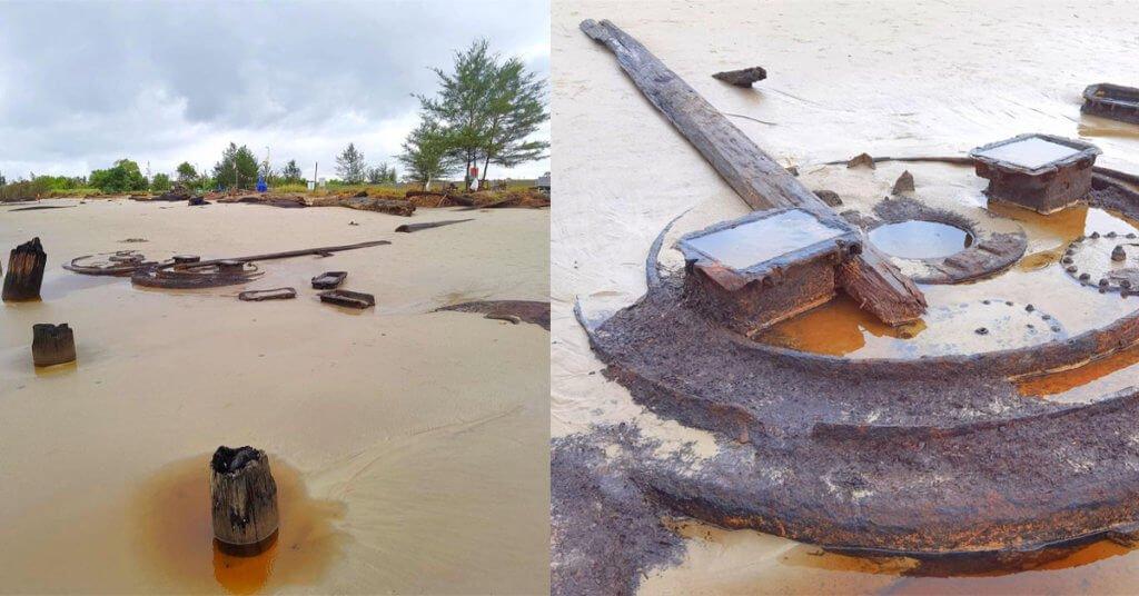Batu Berbentuk Kepala Singa Ditemui Secara Tidak Sengaja Di Pantai Tusan, Miri
