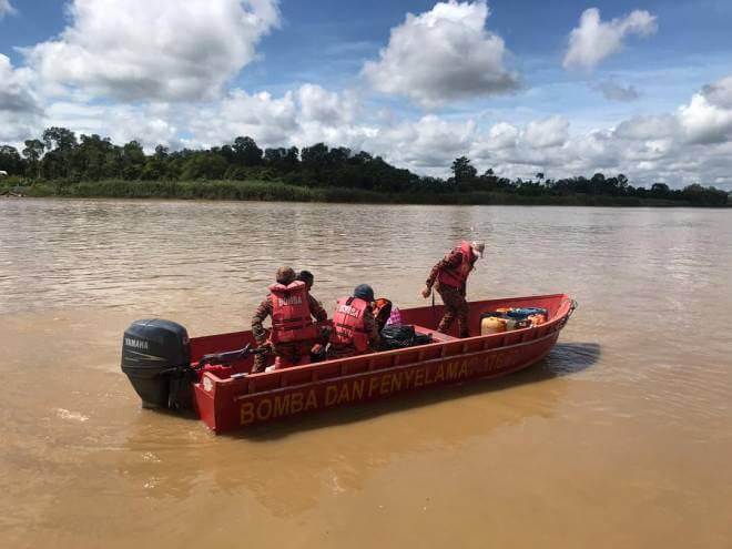 Perahu Karam Di Sarikei, Dua Terselamat Dan Seorang Masih Lagi Hilang