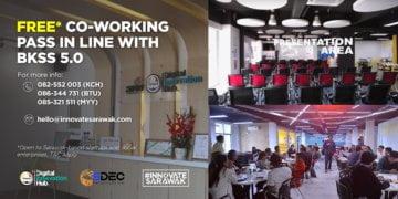 Nikmati Pas Co-Working Hub Inovasi Digital TEGAS Secara Percuma Selaras Dengan Pengumuman BKSS 5.0