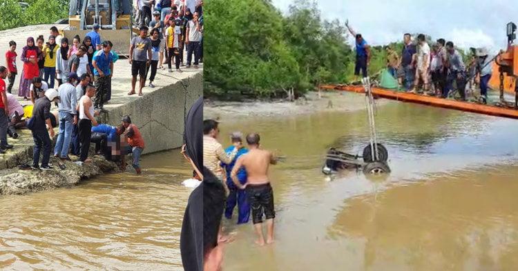 Tragedi Tahun Baru, 9 Sekeluarga Dipercayai Lemas Akibat Kenderaan 4WD Terjatuh Ke Dalam Sungai