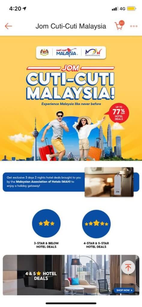 Shopee Tawar Diskaun Sehingga RM 100 Untuk Tempahan Hotel Sempena Cuti-Cuti Malaysia