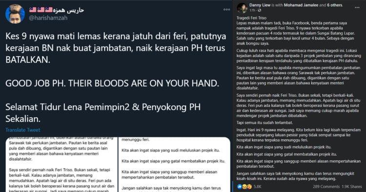 Tragedi Triso : PH Darah Mereka Di Tangan Anda, Netizen Selar Kerajaan 22 Bulan PH