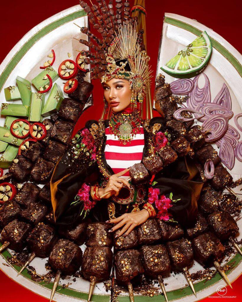 Bertemakan Sate Madura, Tak Berkelip Mata Tengok Kostum Ratu Cantik Indonesia Yang Ekstra Ini