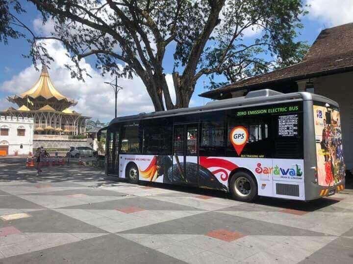Sarawak Lancarkan Perkhidmatan Bas Elektrik Percuma Hari Ini
