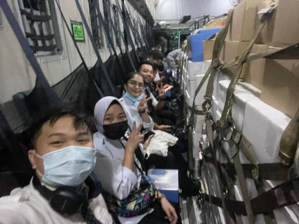 Batch Pertama Pegawai KKM Dari Semenanjung Dihantar Khas Guna Pesawat A400M TUDM