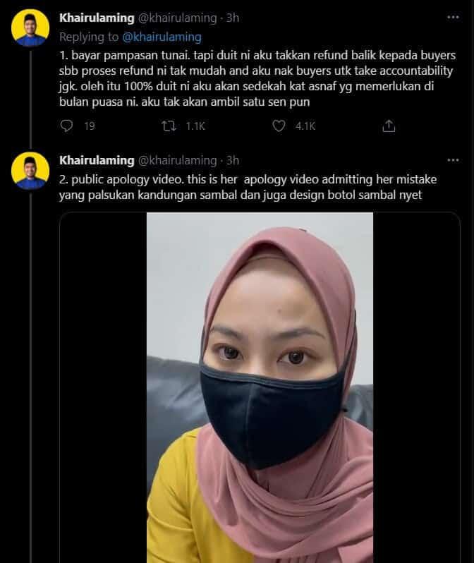 Wanita Ciplak Sambal Nyet Berapi Mohon Maaf, Khairulaming Tuntut Pampasan Tunai