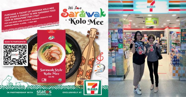 'We Love Sarawak Kolo Mee,' Semua 425 Kedai 7-Eleven Di Singapura Kini Promosikan Mi Kolok Sarawak