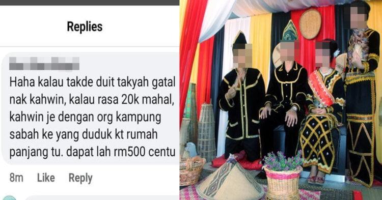 Wanita Ini Hina Hantaran Gadis Sabah Dan Sarawak, Sekali Kena 'Sound' Dengan Netizen
