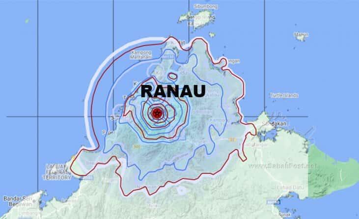 Bulan Ini Sahaja, 3 Gempa Bumi Pada Skala Richter Lemah Dilaporkan Di Ranau