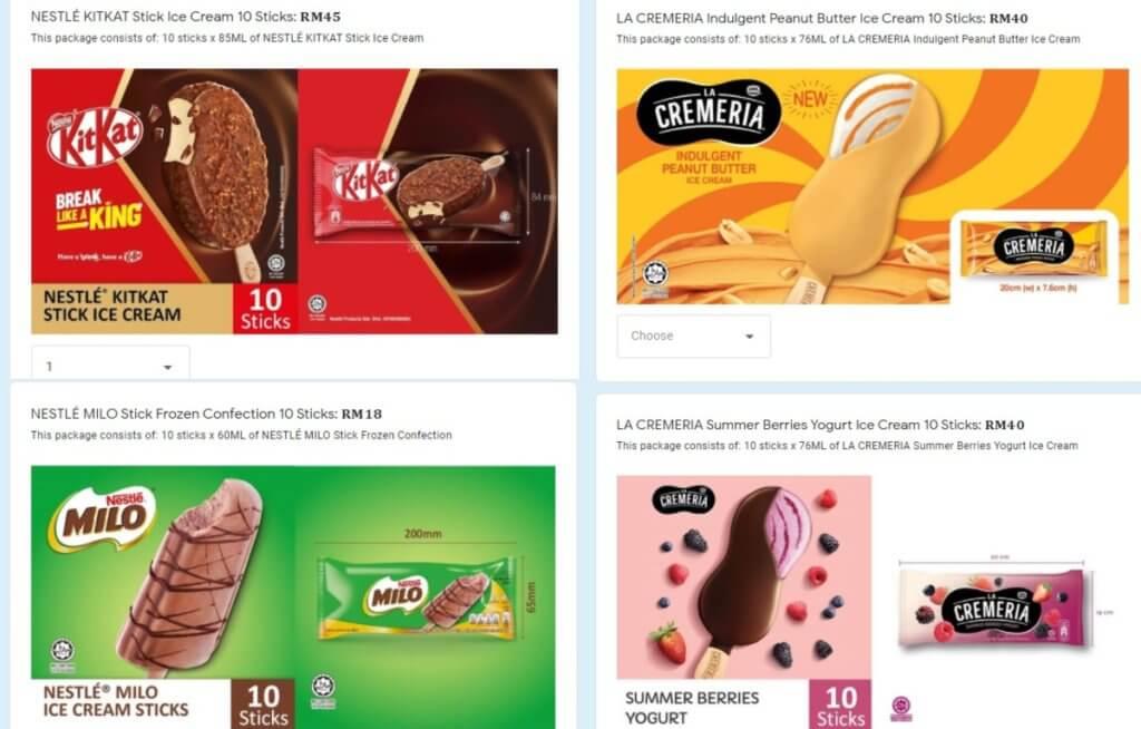 Ini Cara Buat Pesanan Aiskrim Nestlé Di Sabah Sarawak, Siap Hantar Sampai Depan Rumah!