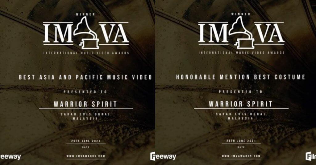 Tuah Semangat 'Balang', Muzik Video Alena Murang Raih 2 Anugerah Di International Music Video Awards UK 2021