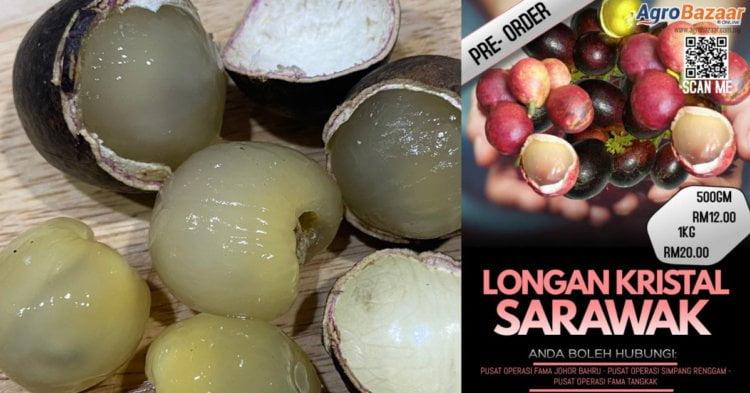 Terkenal Dengan Tiga Rasa, Jom Ketahui Cara Beli Buah Kristal Sarawak Di Atas Talian