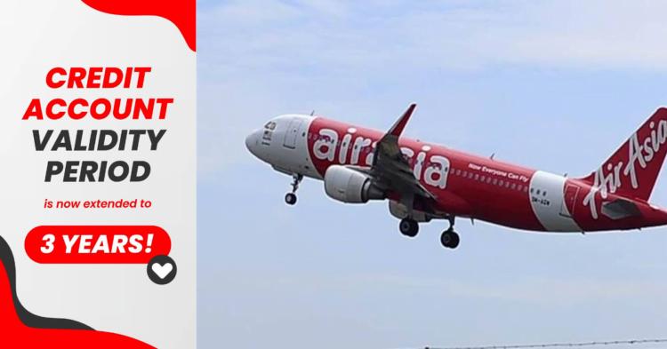 Tempoh Sah Akaun Kredit AirAsia Kini Dilanjutkan Kepada 3 Tahun
