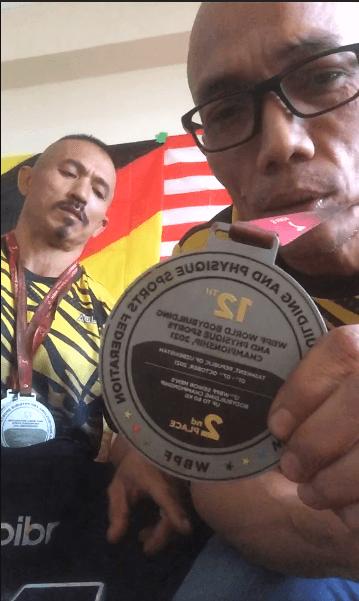 2 'Abang Sado' Sarawak Rangkul Pingat Buat Malaysia Dalam Kejuaraan Bina Badan Dunia Di Uzbekistan